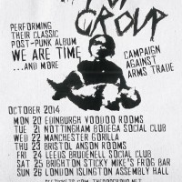 The Pop Group - Oct 2014 UK Tour - Poster